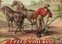 """I feed you all!"" lithograph by American Oleograph Co., Milwaukee, ca. 1875. (Li"