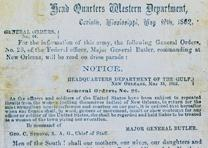 P. G. T. Beauregard, General Orders 44, May 19, 1862. (GLC00666)