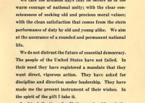 Inaugural Address of Franklin D. Roosevelt, March 4, 1933 (GLC00675)