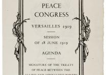 Peace Congress, Versailles 1919, Session of 28 June 1919: Agenda. Signature of t