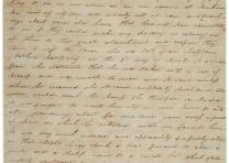 Thomas Glascock to Andrew Jackson, April 30, 1818. (Gilder Lehrman Collection)