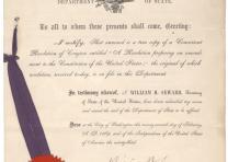 William Henry Seward, [Fifteenth Amendment resolution], February 27, 1869 (Gilde