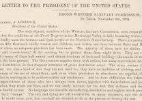 [Appeal from the Western Sanitary Commission to President Abraham Lincoln regard