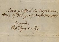 Charles Cornwallis, Articles of capitulation settled at Yorktown, October 19, 17