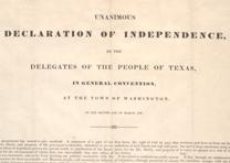 Texas Declaration of Independence, March 2, 1836. (GLC02559)