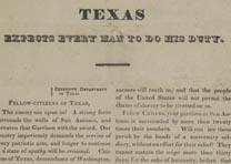 "Henry W. Smith, ""Texas Expects Every Man to Do His Duty,"" February [28], 1836 (G"