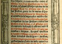 Bartolomé de las Casas, Aqui se contiene una disputa .... Vallad, Spain: Casa de