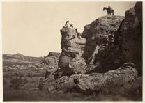 """""""High Bluff, Black Buttes,"""" from The Great West Illustrated by Andrew J. Russell"""