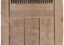 """Bloody Butchery by the British Troops,"" broadside by Ezekiel Russell, 1775. (Th"