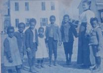Students and teachers at the Calhoun School in Alabama (Gilder Lehrman Collectio