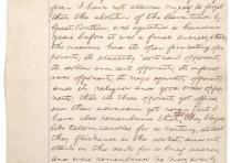 Abraham Lincoln, speech fragment concerning the abolition of slavery, ca. July 1