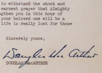 Douglas MacArthur to Mary Cushman, October 24, 1950. (GLC05508.173)