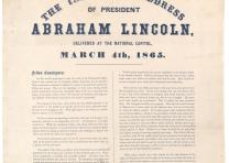 The Inaugural address of President Abraham Lincoln delivered at the National Cap