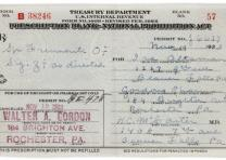[Treasury Department Prescription Blank - National Prohibition Act], November 19