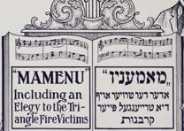 "Joseph Rumshinsky, ""Mamenu"" or ""The Triangle Victims,"" 1911. (GLC06225)"
