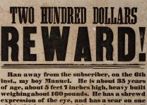"Enoch M. Duley, ""Two Hundred Dollars Reward!"" broadside, KY (GLC06377.01)"