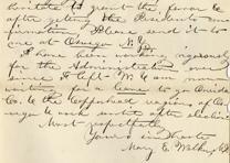 Mary Walker to James Hardie, September 23, 1864 (GLC06882)