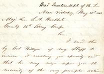 Ulysses S. Grant to Stephen A. Hurlbut, May 31, 1863 (GLC07055)