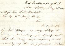 Ulysses S. Grant to Stephen A. Hurlbut, May 31, 1863 (GLC07055)