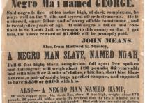 """$2,500 Reward!,"" Mississippi Co., Missouri, broadside, August 23, 1852. (Gi"
