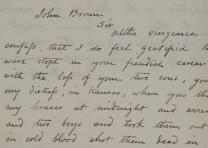 Mahala Doyle to John Brown, November 20, 1859. (GLC07590)