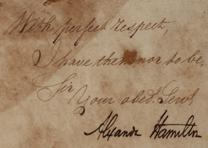 Alexander Hamilton to Governor Thomas Mifflin, September 20, 1794. (GLC07920)
