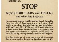 """Don't Buy A Ford Ever Again"" broadside, c. 1960. (GLC08259)"