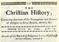 The Christian History, June 30, 1744, published by Thomas Prince (GLC08819p137)