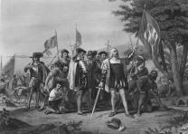 Landing of Christopher Columbus, 1856