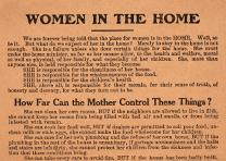 Woman Suffrage Party of the City of New York, Women in the Home broadside, ca. 1