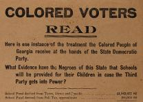 Color Voters Read, broadside, 1894. (GLC09000)