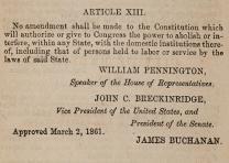 Proposed thirteenth amendment, April 30, 1861. (GLC09040p4)