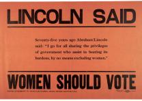 Lincoln Said Women Should Vote, ca. 1910 (Gilder Lehrman Collection)