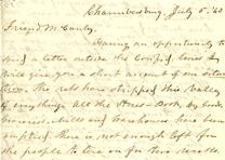 William H. Boyle to Isaac McCauley, July 5, 1863 (Gilder Lehrman Collection)