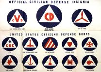 """Official Civilian Defense Insignia, United States Citizens Defense Corps,"" US O"