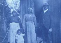 Portrait of an African-American family in Calhoun, Alabama, cyanotype by Richard