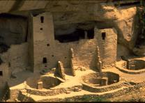 Anasazi dwellings in Mesa Verde, Colorado.Courtesy of the National Park Service.