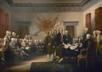 The Declaration of Independence, by John Trumbull, from the Rotunda of the US Ca