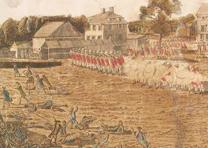 """The Battle of Lexington, April 19th, 1775,"" Plate 1, art by Ralph Earl, engrave"