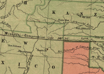 Detail from a Map of the Missouri Compromise
