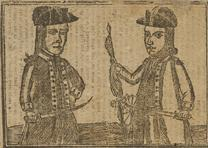 Daniel Shays and Job Shattuck, Unknown artist, 1787 (National Portrait Gallery)