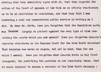 Theodore Roosevelt's letter reviling the Dred Scott Decision  (Gilder Lehrman Co