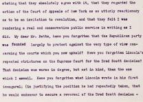 Theodore Roosevelt's letter reviling the Dred Scott Decision  (Gilder Lehrman Co