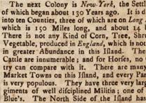 Detail from Maryland Gazette. No. 524 May 22, 1755.  (Gilder Lehrman Collection)