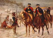 """Washington and Lafayette at Valley Forge,"" based on a painting by John Ward Dun"