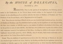 Resolutions for amending the Constitution . . . , 1800. (GLC00927.02)