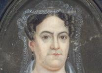 Rachel Jackson, ca. 1824, attributed to Mary C. Strobel. (GLC02793.019.02)