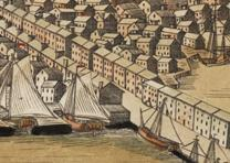 """A View of the Town of Boston,"" by Paul Revere, 1770, detail. (GLC02873)"