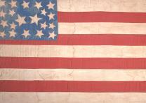 Abolitionist flag, ca. 1859. (Gilder Lehrman Collection)