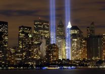 The Tribute in Light in remembrance of the September 11 attacks. Credit: US Air